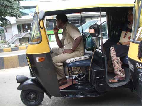 around in auto rickshaws